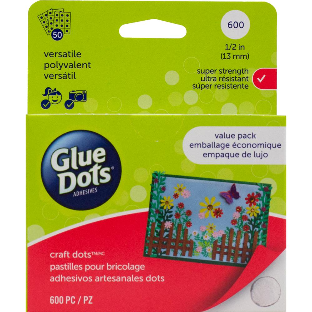 Glue dots 5 craft dot sheets value pack a paper for Craft plastic sheets walmart